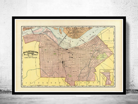 Old,Map,of,Louisville,Kentucky,1897,louisville, map of louisville, louisville city, louisville map,louisville kentucky, panoramic view, birdseye, maps and prints, old map, louisville poster