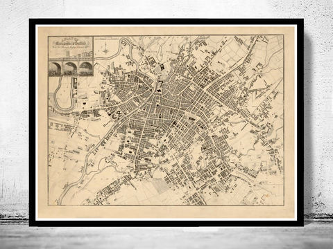 Old,Map,of,Manchester,and,Salford,1825,old maps, antique maps, old map of manchester, Art,Reproduction,Open_Edition,illustration,gravure,vintage_map,England,United_Kingdom,retro_manchester,manchester_vintage,manchester_map,old_map_manchester,old_manchester