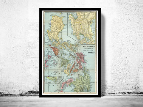 Old,Map,of,Philippine,Islands,Philippines,1898,Philippine Islands, old map of Philippine Islands, Philippine Islands poster, Philippine Islands retro, vintage Philippine Islands,Art,Reproduction