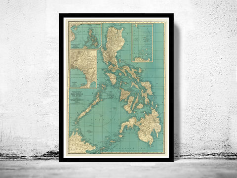 Old,Map,of,Philippine,Islands,Philippines,1924,Philippine Islands, old map of Philippine Islands, Philippine Islands poster, Philippine Islands retro, vintage Philippine Islands,Art,Reproduction