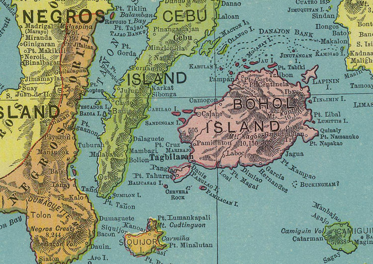 Old Map of Philippine Islands Philippines 1903 - product images  of