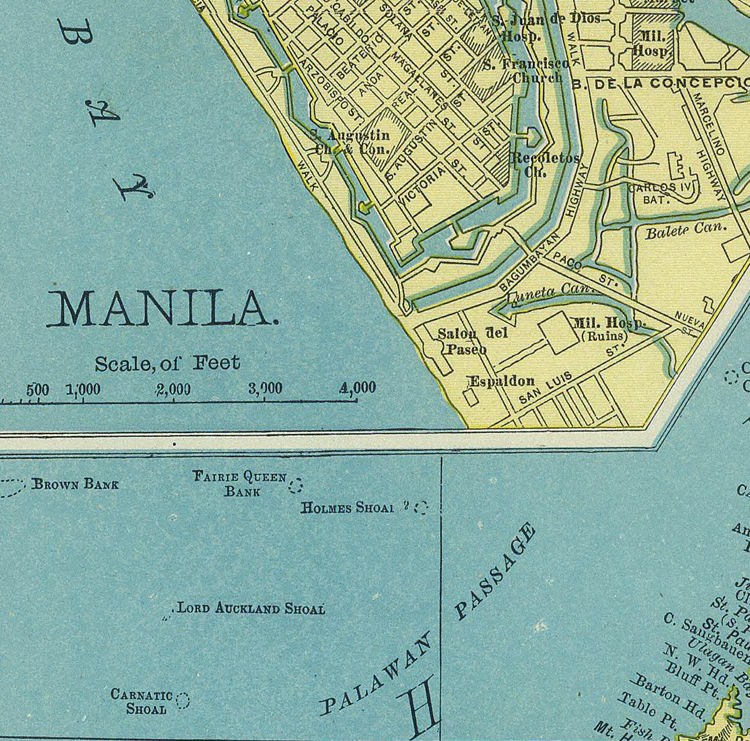 Old Map of Philippine Islands Philippines 1903 - product image