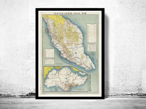 Old,Map,of,Malay,Peninsula,Singapore,singapore, old map of singapore, singapore poster, singapore retro, vintage singapore,Art,Reproduction,,vintage_map,old_singapore city, malay peninsula, malacca