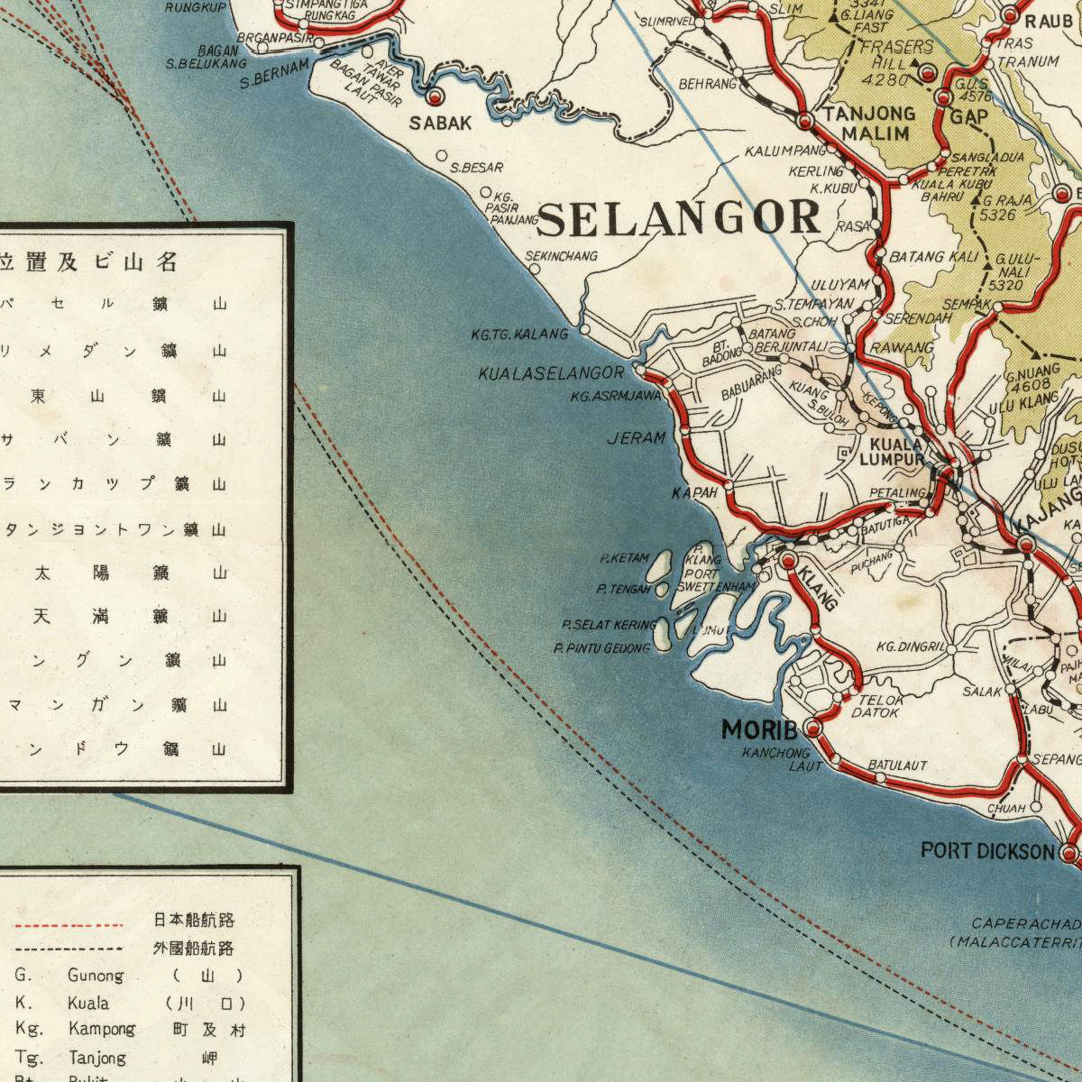 Old Map of Malay Peninsula Singapore  - product images  of