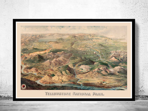 Yellowstone,National,Park,Poster,Milwaukee,1904,yellowstone national park, yellowstone milwaukee, yellowstone park poster, yellowstone park