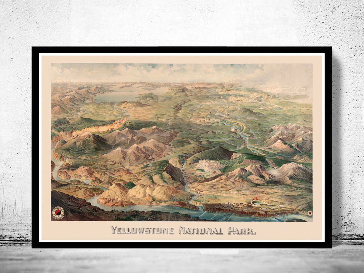 Yellowstone National Park Poster Milwaukee 1904 - product images  of