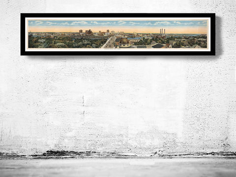 Vintage,Panoramic,View,of,Tampa,Florida,1915,tampa florida, old photo of tampa florida, tampa photo, tampa florida poster, poster of tampa florida