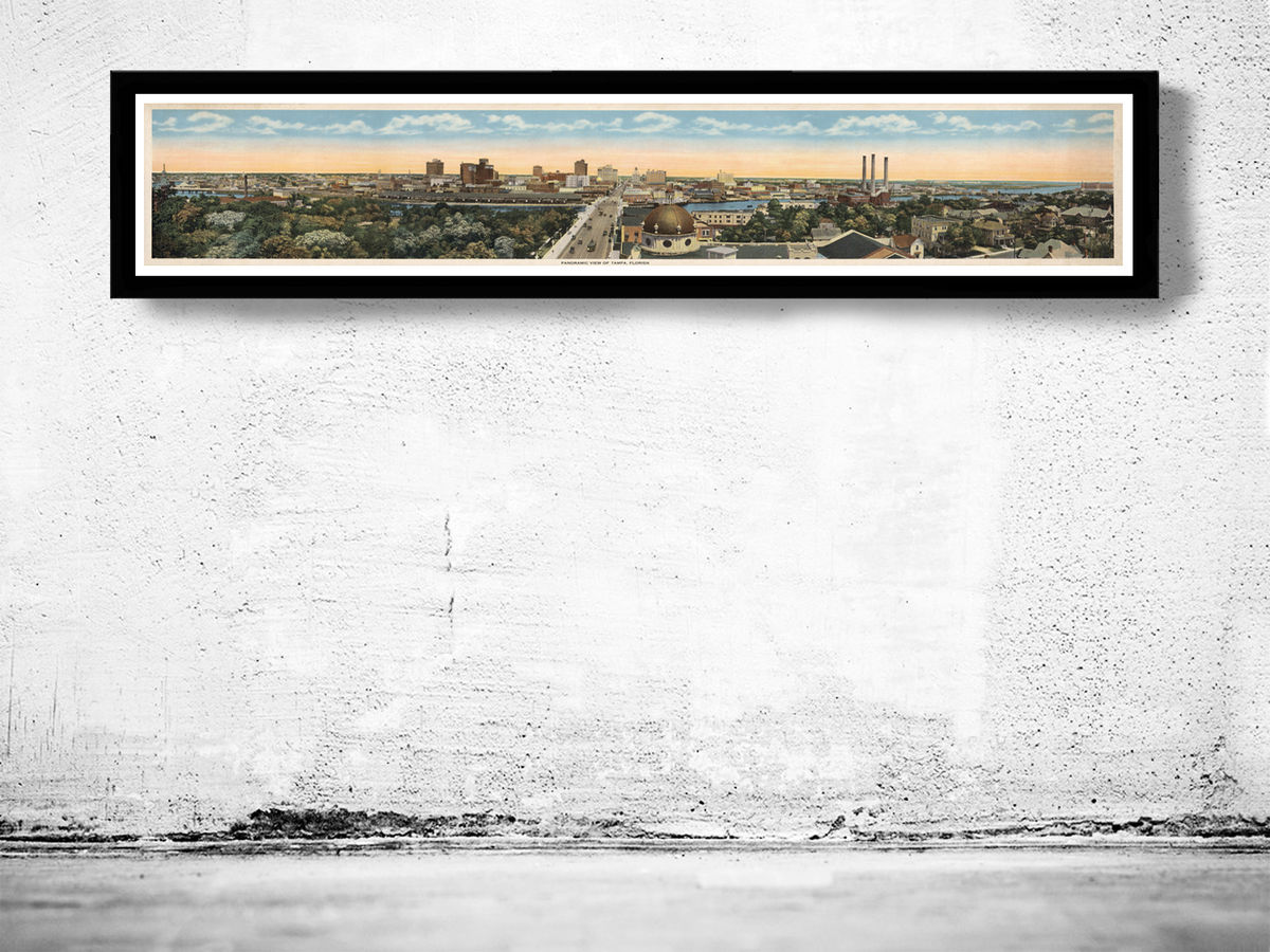 Vintage Panoramic View of Tampa Florida 1915 - product images  of