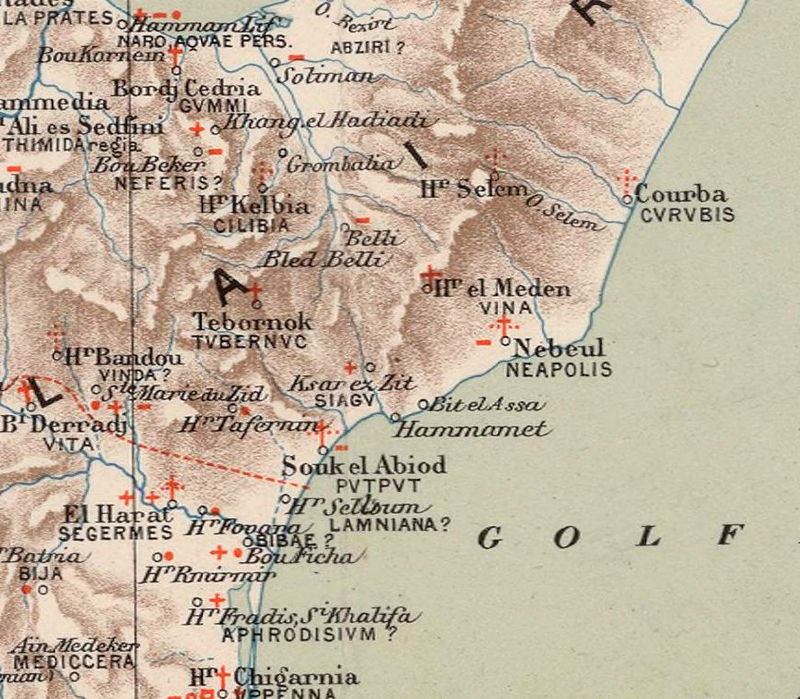 Old Map of Tunisie Tunisia  1912  - product image