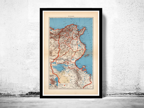 Old,Map,of,Tunisie,Tunisia,tunisia map, map of tunisia, tunisie mappe, map of tunisie, old map of tunisie, Art,Reproduction,Open_Edition,vintage_poster,travel_poster,tunisia, tunisie tourisme, tunisia poster, tunisie wall decor