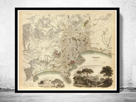 Old,Map,of,Napoli,Naples,1835,Art,Reproduction,Open_Edition,city_map,retro,antique,Europe,italy,italia,napoli,neapel,old_map,city_plan,vintage_poster,vintage_map,napli