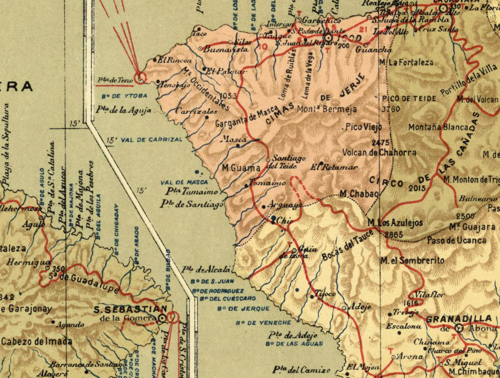 Old Map of Tenerife Canary Islands 1900  - product images  of