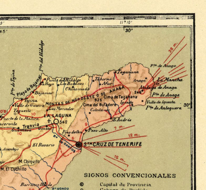 Old Map of Tenerife Canary Islands 1900  - product image