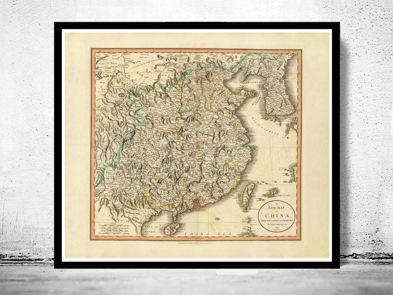 Old Map of China 1801 - product image