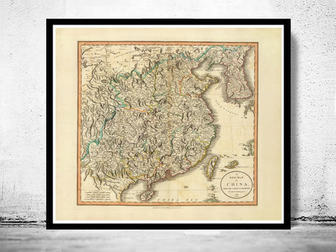 Old,Map,of,China,1801,china poster,Reproduction,Open_Edition,plan,map_of_china,china,asia,china_map,beijing_map,old_map_of_china,china_kingdom,vintage_map_china,asia_map,peking,vintage_map,china_poster, china, china map, map of china