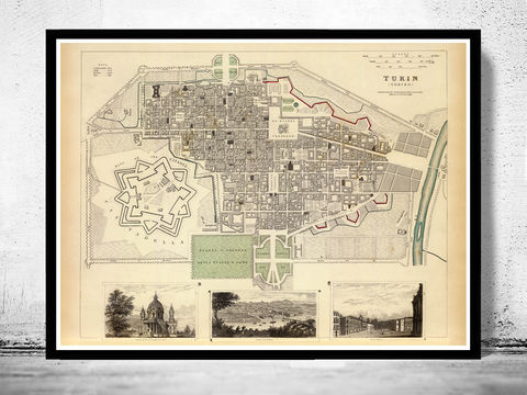 Old,Map,of,Turin,Torino,1833,Italy,Art,Reproduction,Open_Edition,city_map,retro,antique,Europe,italy,italia,turin,torino,old_map,city_plan,vintage_poster,vintage_map,map of turin, old map of turin