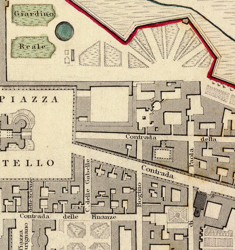 Old Map of Turin Torino 1833 Italy - product images  of