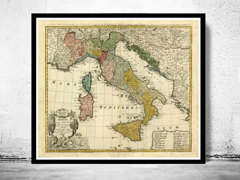 Old,Map,of,Italy,1742,italia,antique map, old map,Art,Reproduction,Open_Edition, italy map, map of italy,italy,italie,mediterranean_sea,Vintage_map,vintage_poster,old_map,old_map_of_italy,antique_map_italy,map_poster