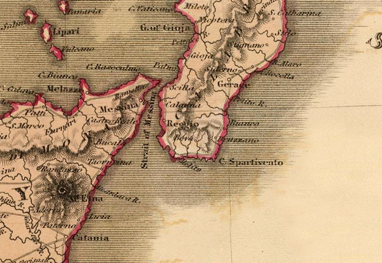 Old Map of Italy 1831 italia - product image