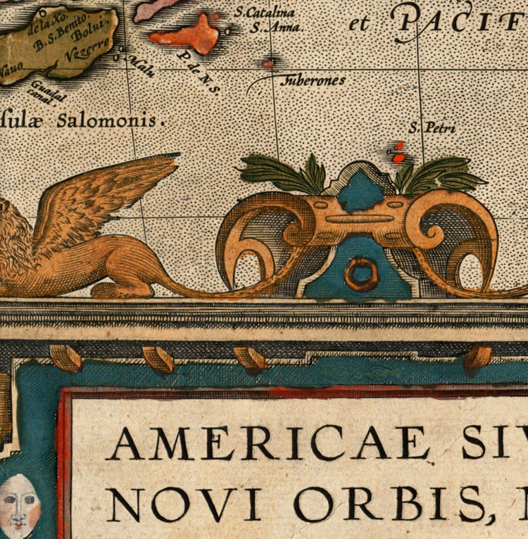 Old Map America Antique 1587 - product images  of