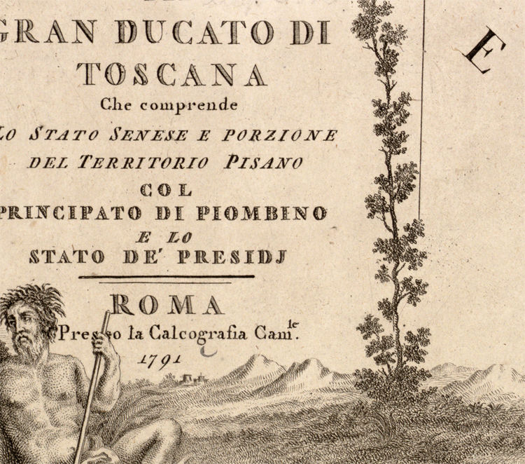 Old Map of Tuscany Toscana Italy 1791 - product image