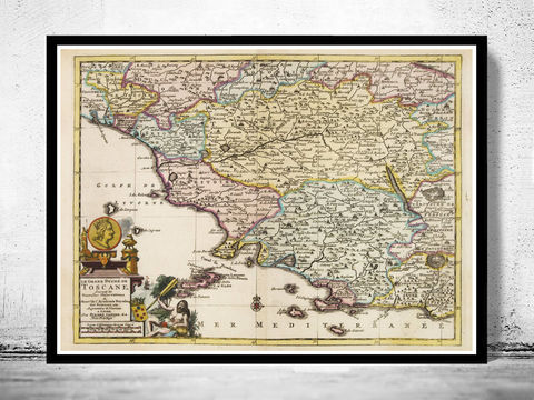 Old,Map,of,Tuscany,Toscana,Italy,1728,map of tuscany, mappa di toscana, toscana italy, umbria italy, umbria toscana, toscana map, tuscany italy, umbria tusca
