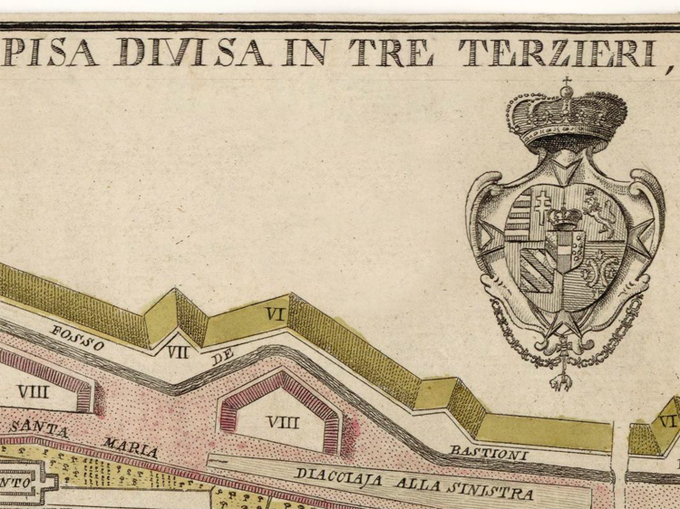 Old Map of Pisa Italy 1777 - product images  of