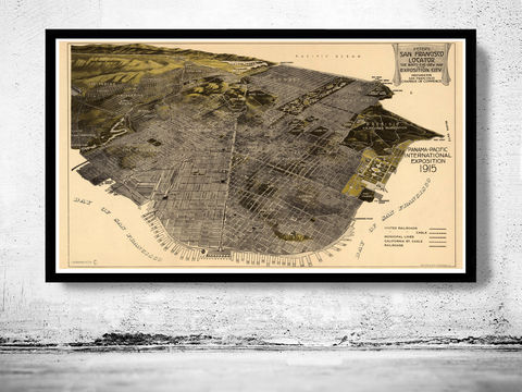 Old,San,Francisco,Panoramic,View,1914,Art,Reproduction,Open_Edition,city_map,retro,antique,birdseye,panoramic,san_francisco,san_francisco_poster,san_francisco_map,vintage_map,birdseye_view,san_francisco_plan,san_francisco_decor,san_francisco_city