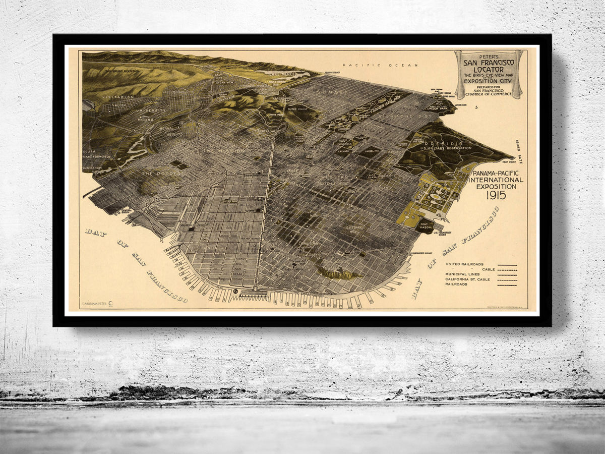 Old San Francisco Panoramic View 1914 - product images  of