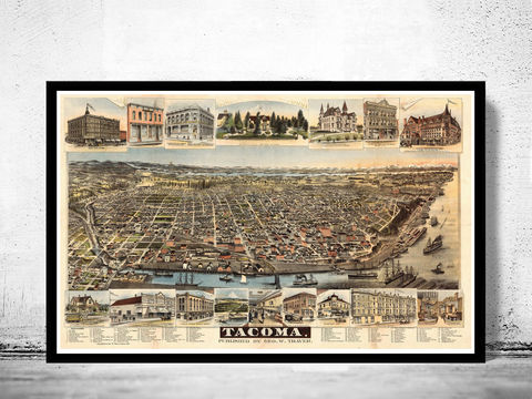Tacoma,Washington,Panoramic,View,1890,Art,Reproduction,Open_Edition,United_States,USA,city_map,retro,antique,birdseye,tacoma,map_of_tacoma,tacoma_view,view_of_tacoma,tacoma_poster,tacoma_map,vintage_tacoma