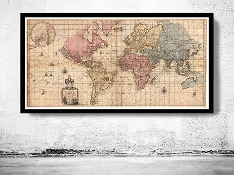 Old,World,Map,antique,1676,world map poster,Art,Reproduction,Open_Edition,World_map,atlas,Asia,europe,america,oceania,vintage_map,old_world_map,globe,antique_map,antique_world_map,world_old_map,map_of_the_world