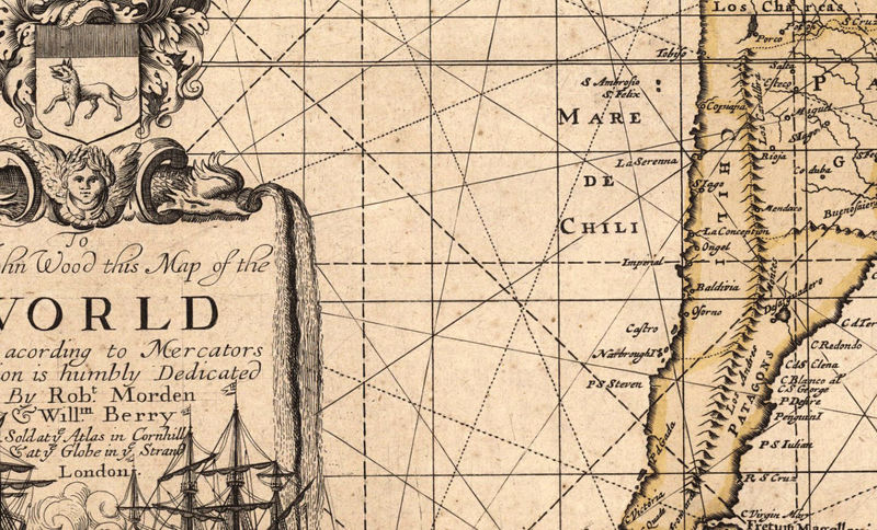 Old World Map antique 1676 - product image