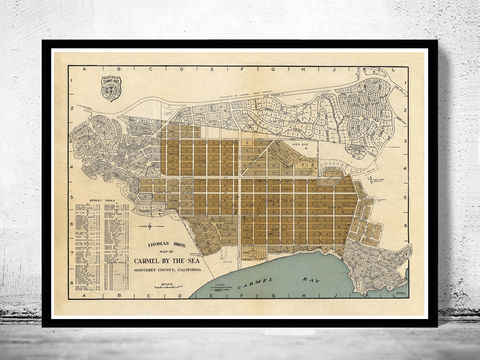 Old,Map,of,Carmel,By,The,Sea,California,1920,map of Carmel By The Sea, old map of Carmel By The Sea california, Carmel By The Sea map, Art,Reproduction,Open_Edition,United_States,panoramic_view,gravure,urban,birdseye,vintage_map,Carmel By The Sea,california,old_map,vintage_poster,city_plan,old_gravu