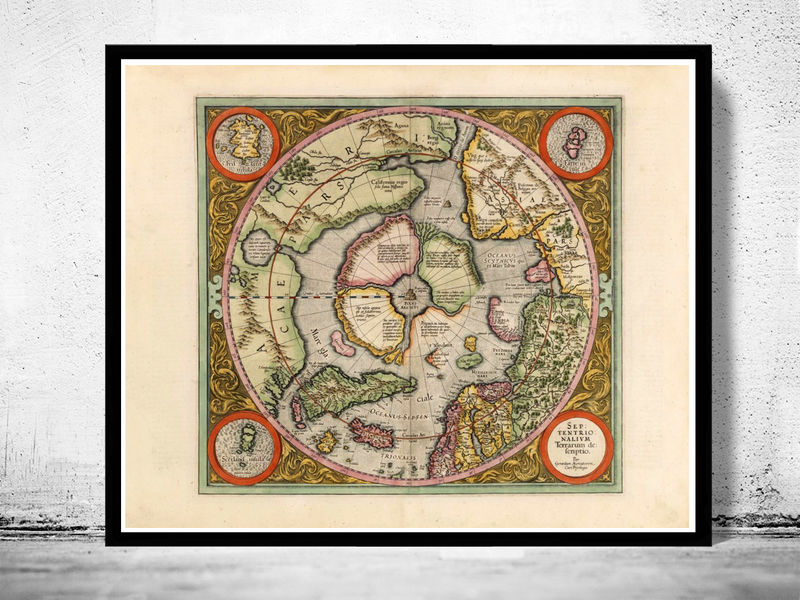 Old Map of North Pole 1609 - product image
