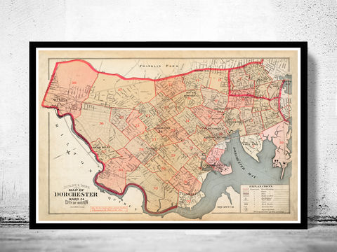 Old,Map,of,Dorchester,Boston,1895,Reproduction map,dorchester Boston,city_map,retro,antique,Massachusetts,old_map,vintage_map,boston_map,map_of_dorchester boston,dorchester_poster, dorchester map, map of dorchester , dorchester poster, antique map, vintage map
