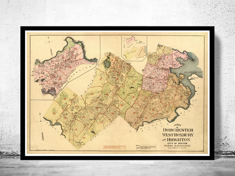 Old,Map,of,Dorchester,West,Roxbury,Boston,1899,West Roxbury, Reproduction map,dorchester Boston,city_map,retro,antique,Massachusetts,old_map,vintage_map,boston_map,map_of_dorchester boston,dorchester_poster, dorchester map, map of dorchester , dorchester poster, antique map, vintage map, old map of do