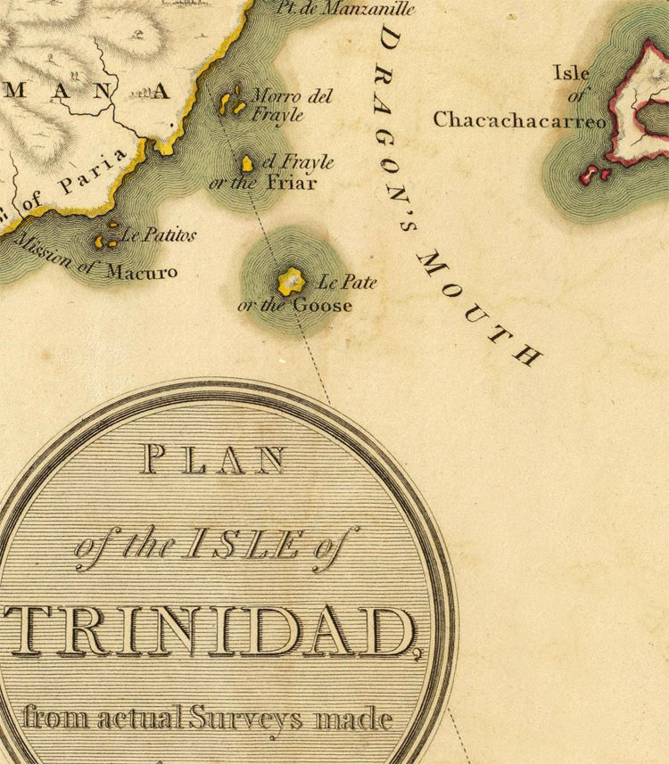 Old Map of Trinidad Tobago 1800 - product images  of