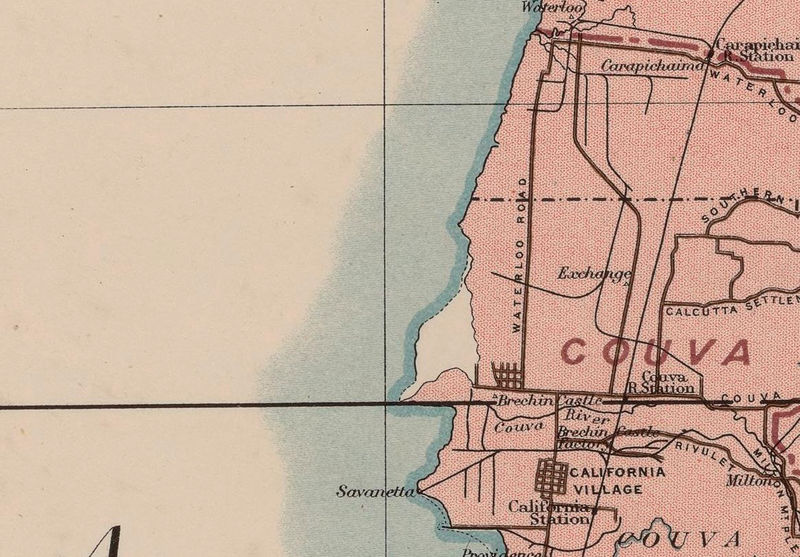 Old Map of Trinidad Tobago 1918 - product image