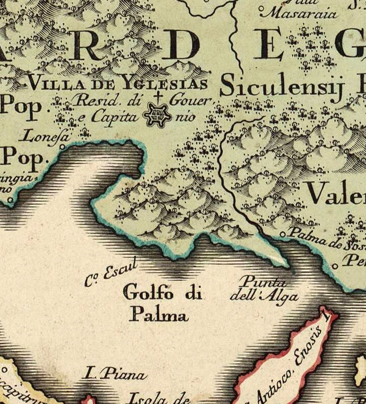 Old Map of Sardinia Sardegna 1720 - product images  of