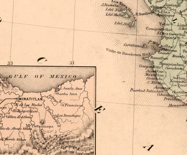 Old Map of Mexico Republic 1859 - product images  of