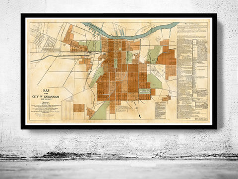 Old,map,of,Savannah,GA,Georgia,1917,old map, old map of savannah, savannah map, savannah GA, savannah Georgia ,Georgia state, Georgia  poster, Georgia  map, map of Georgia , old map, vintage map, antique map