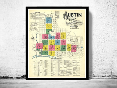 Old,map,of,Austin,Texas,1894,AUSTIN POSTER, AUSTIN TEXAS, AUSTIN MAP, MAP OF AUSTIN, AUSTIN vintage, austin gift, austin print, old map of austin, austin old map