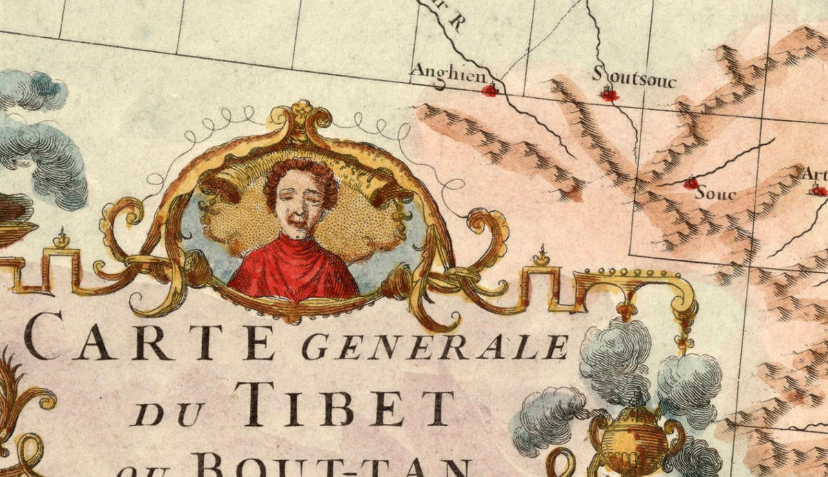 Old Map of Tibet 1737 China - product images  of