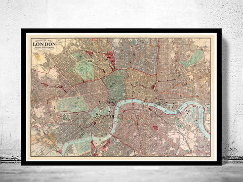 Old,Map,of,London,1880,victorian london, london maps sale, map reproduction, old maps for sale, london map, map of london, london poster, Art,Reproduction,Open_Edition,city,vintage,illustration,gravure,vintage_map,city_plan,england,united_kingdom,london,old_map,engraving