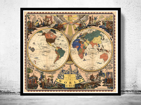Old,World,Map,Antique,1928,world map poster,Art,Reproduction,Open_Edition,World_map,atlas,Asia,europe,america,oceania,vintage_map,old_world_map,globe,antique_map,antique_world_map,world_old_map,map_of_the_world