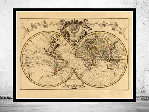 Old,World,Map,1742,Vintage,world map poster,Art,Reproduction,Open_Edition,World_map,atlas,Asia,europe,america,oceania,vintage_map,old_world_map,globe,antique_map,antique_world_map,world_old_map,map_of_the_world