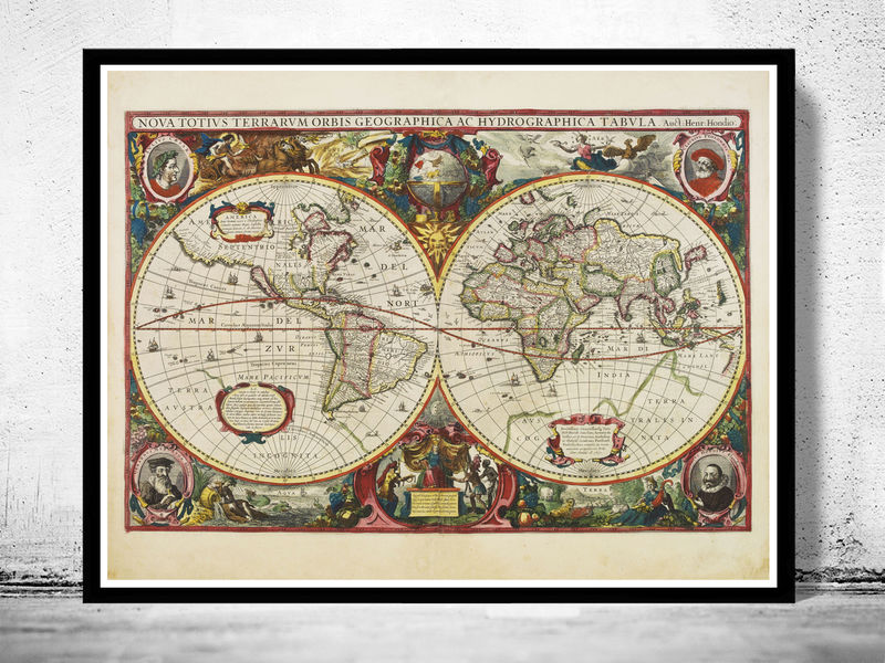 Old World Map Antique 1630 - product image