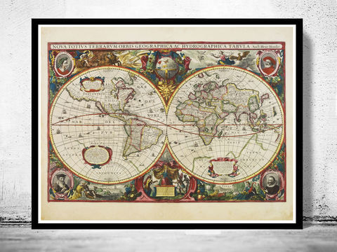 Old,World,Map,Antique,1630,Art,Reproduction,Open_Edition,map,old,vintage,World_map,old_map,antique,atlas,hemisphere,vintage_map,world_atlas,world_map_vintage,atlas_poster