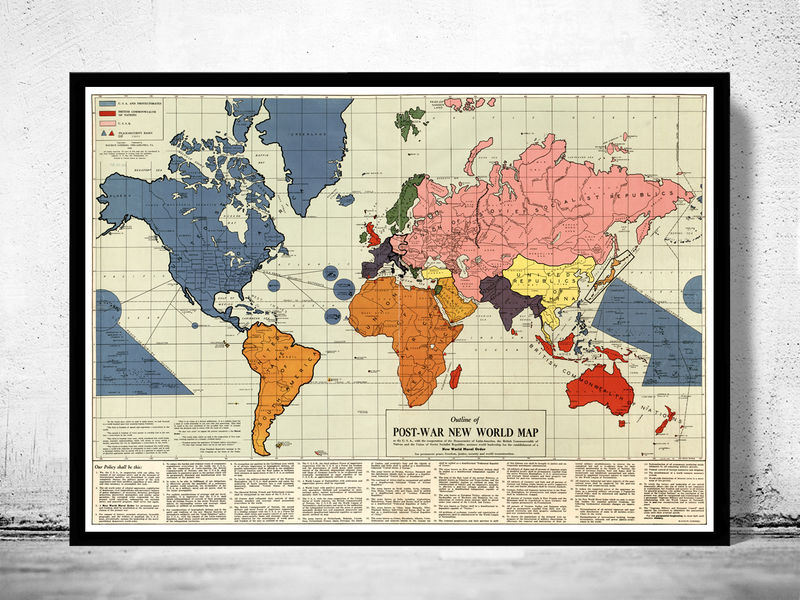 Old World Map infamous New World Order map 1942 - product image