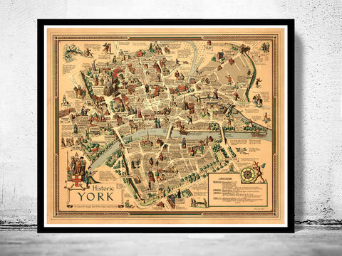 Old,Map,of,York,City,History,Art,Reproduction,Open_Edition, York uk, York map, map of York, york poster, map, old map, maps and prints, map reproductions, maps for sale